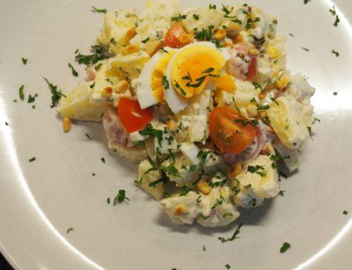 Vegetarische koude aardappelsalade