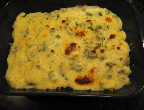 Macaroni met zalm en kaas