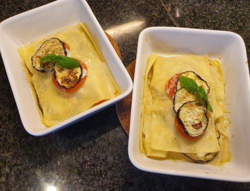 Open lasagne caprese