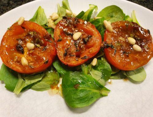 Gegrilde tomatensalade